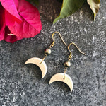 Love Crescent Moon Earrings