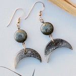 Crescent Moon Bubble Earrings