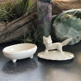 Fox Ceramic Ring Box