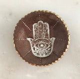 Hamsa Hand Ring Dish ceramic with gold detail