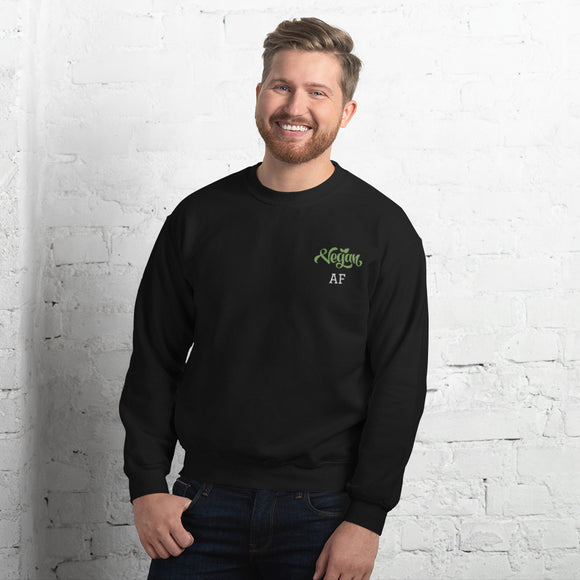 Unisex Embroidered Pullover Sweatshirt: Vegan AF