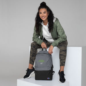 Embroidered Champion Backpack: Vegan AF