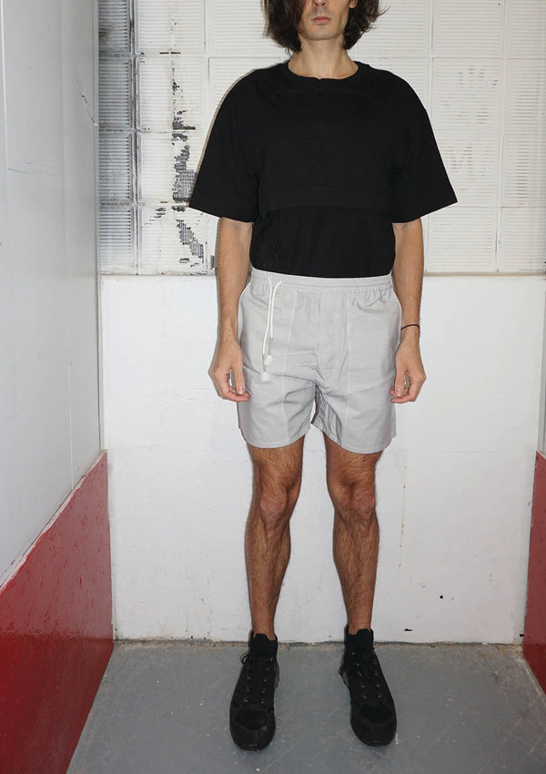 DRAWSTRING PATCHED SHORTS
