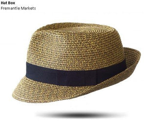 PAPER TRILBY CAMEL