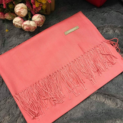 Plain Red Pink Scarf