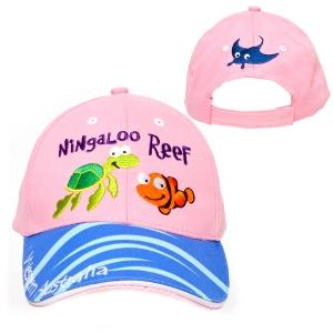 HAT KIDS BRUSHED COT NINGALOO REEF PINK