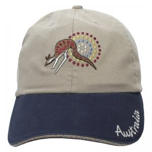Cap Stone Washed Cotton Khaki Navy