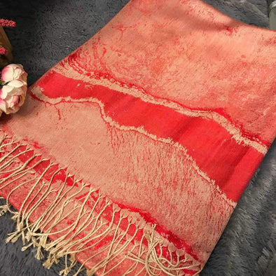 Red Pattern Scarf