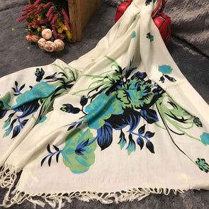 White Flower Scarf