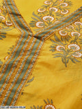 Yellow Printed Kurta Set With Skirt