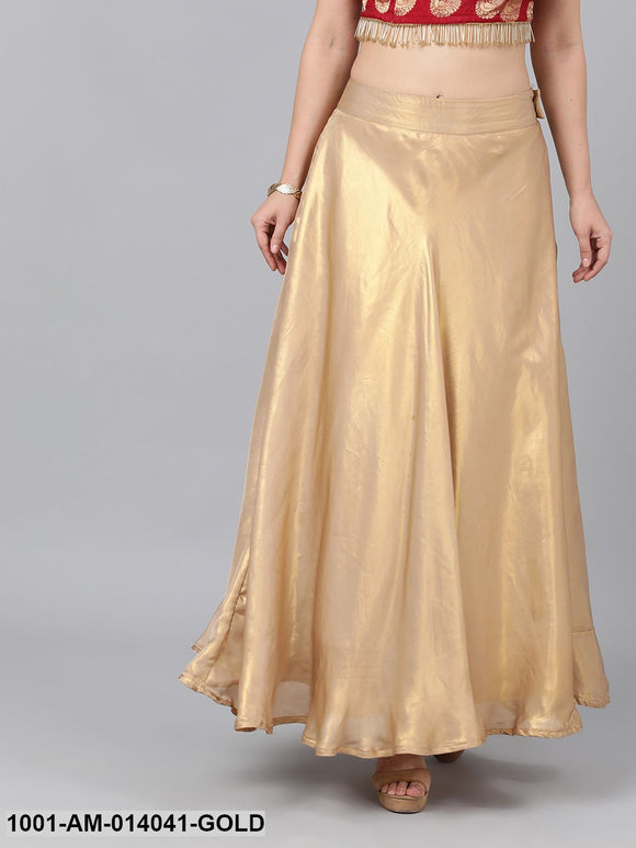 Gold Flared Skirt