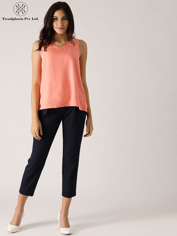 Peach & White Reversible Top