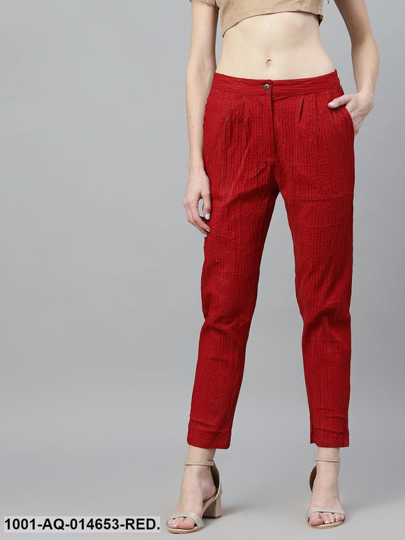 Red Lurex Design Pant