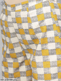 Yellow & Grey Printed Straight Kurta With Palazzo Set