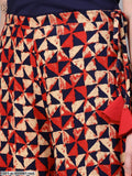 Red & Blue Geometrical Printed Palazzo
