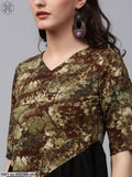 Olive & Black Printed Tunic