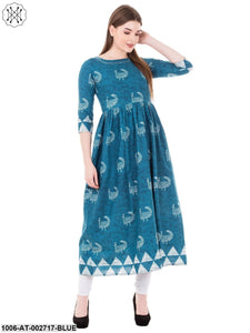 Cotton Printed A-Line Kurta