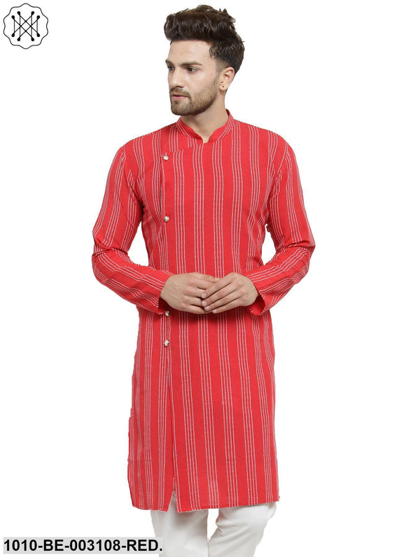Men's Striped Khari Kurta