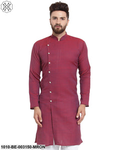 Men's Jacquard Cotton Blend Kurta