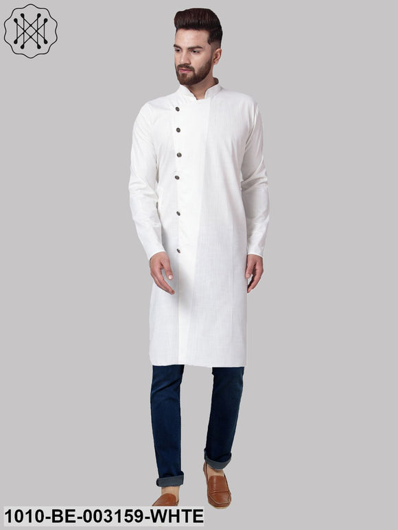Men's Solid Cotton Blend Kurta