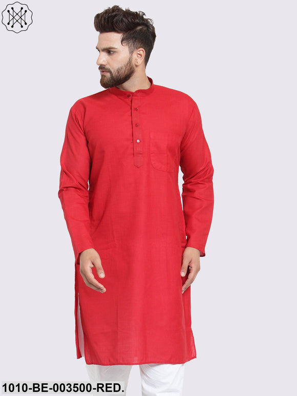 Men's Self Cotton Kurta