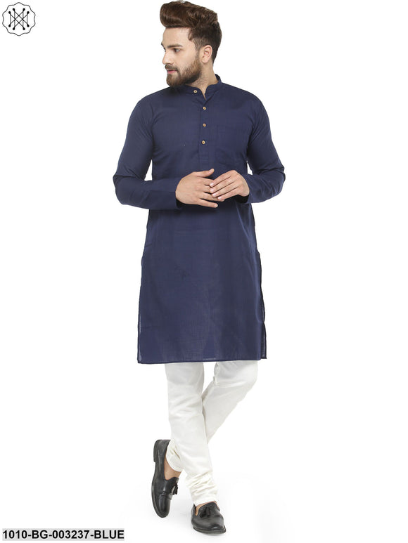 Men's Self Design Cotton Kurta Pyjama Set