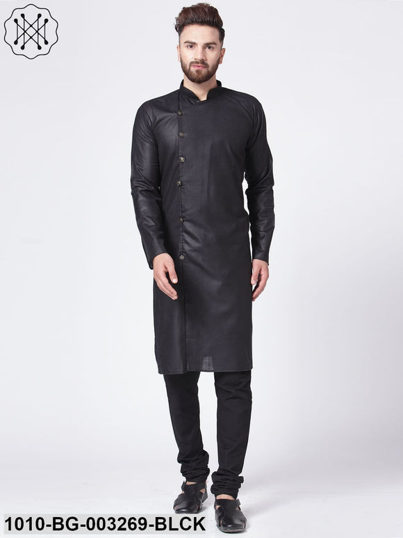 Men's Solid Cotton Blend Kurta Pyjama Set