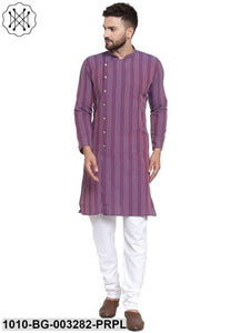 Men's Striped Kurta Pyjama Set