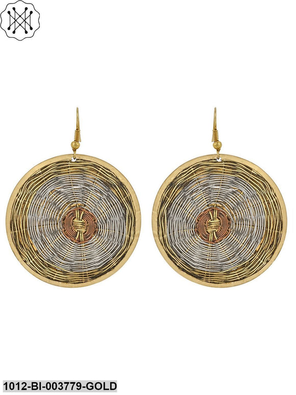Prita Classic Circle Brass Earrings