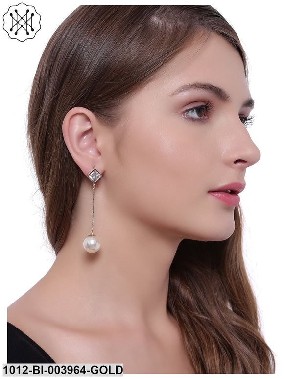Partywear Crystal Dangle Earrings
