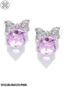 Prita Purple Silver-Plated Handcrafted Contemporary Studs