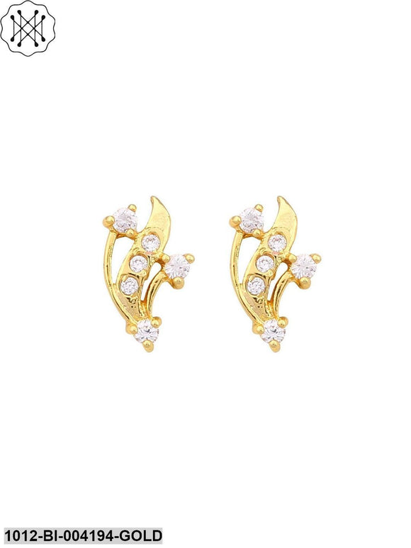 Prita Gold Tone Stud Earrings For Women