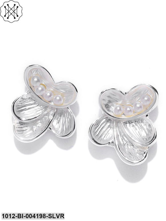 Prita Silver Plated Stud Earrings