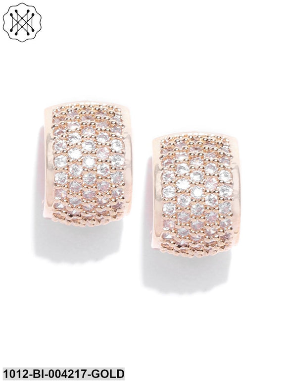 Prita Gold-Plated Handcrafted Contemporary Studs