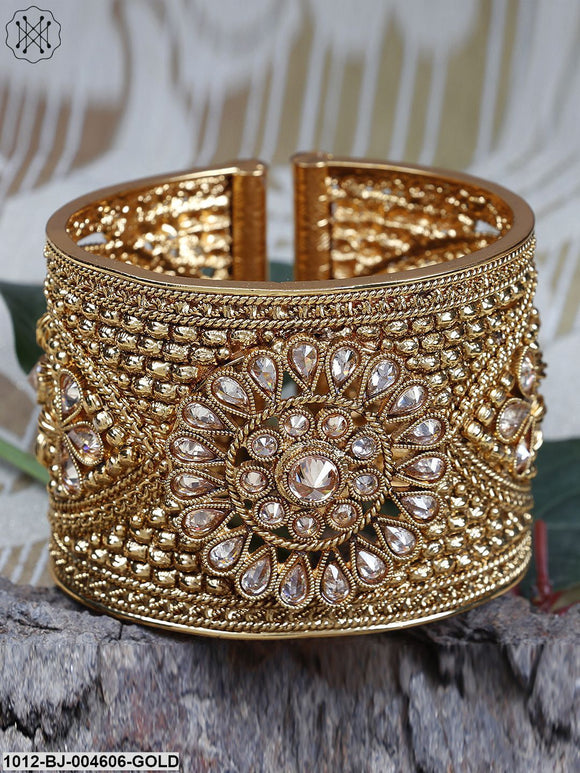 Priyaasi Gold-Plated Handcrafted Cuff Bracelet