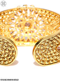 Priyaasi Gold-Plated Handcrafted Kundan-Studded Cuff Bracelet