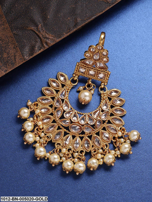 Priyaasi Gold-Plated Handcrafted Stone-Studded Passa
