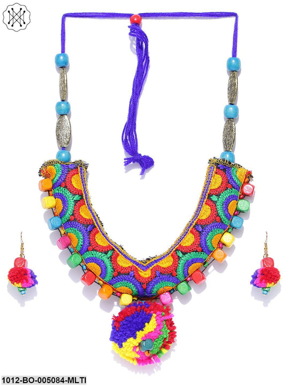 Prita Multicolour Handcrafted Necklace Set