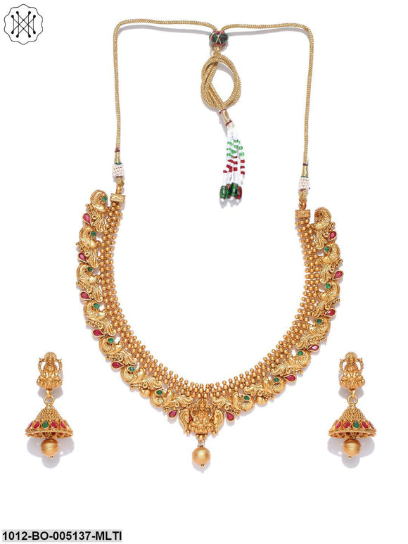 Priyaasi Gold Plated Temple jewellery Set