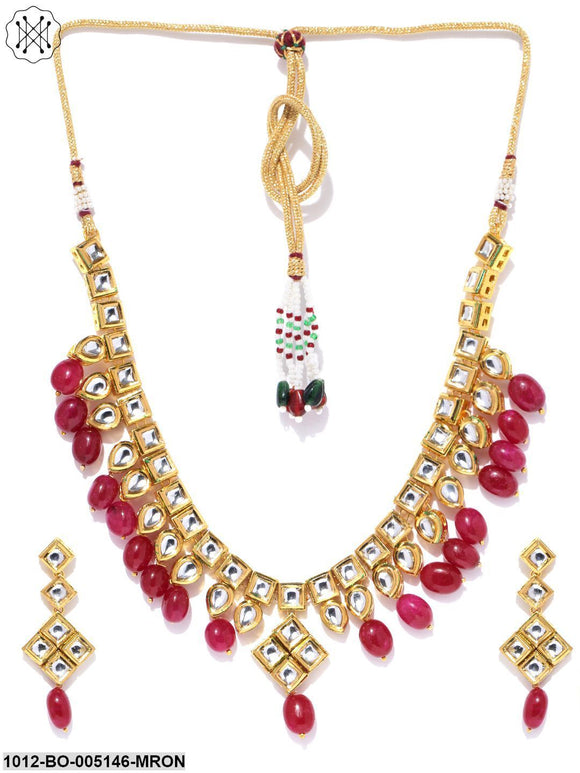 Priyaasi Partywear Gold Plated Kundan jewellery Set