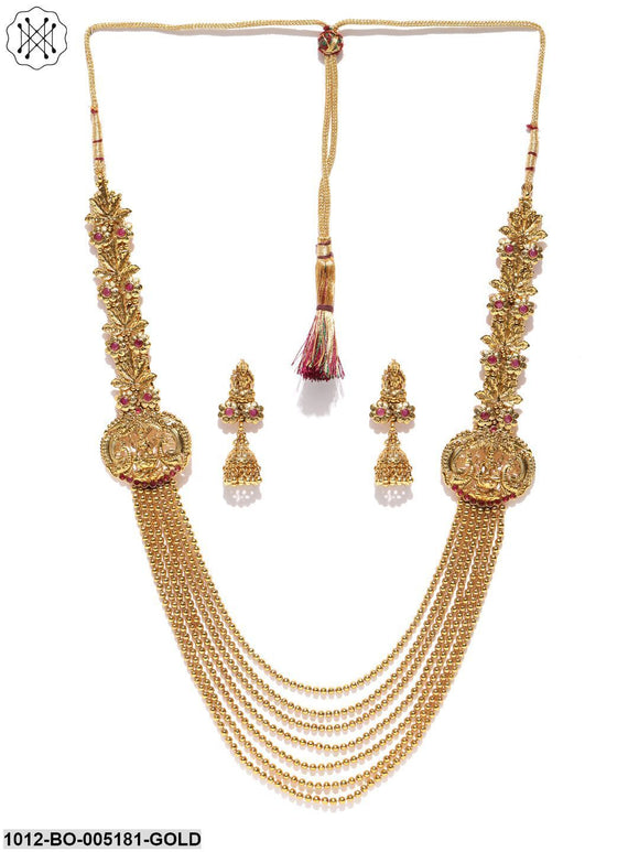 Priyaasi Gold Plated Temple Long Raani Haar/Haram Set