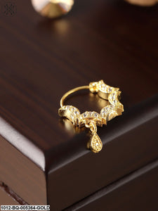 Priyaasi Gold-Plated American Diamond Studded Nose Ring