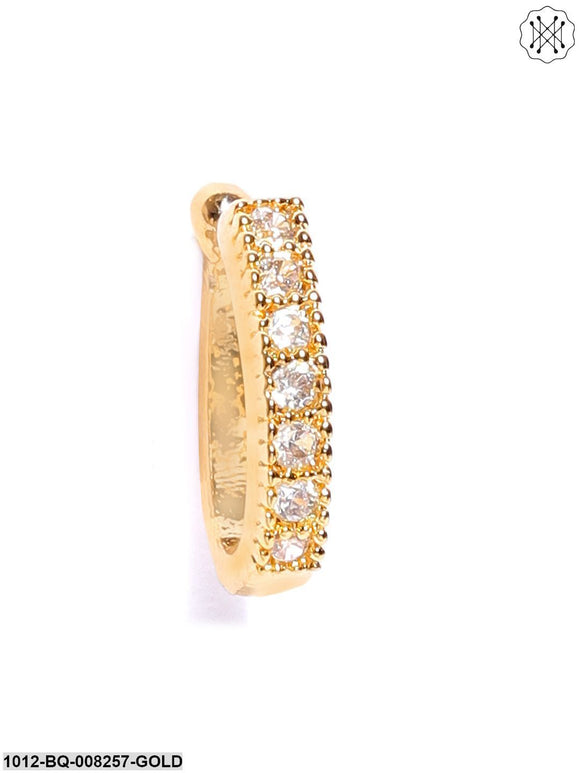 Priyaasi Gold-Plated CZ Stone-Studded Clip-On Nosepin