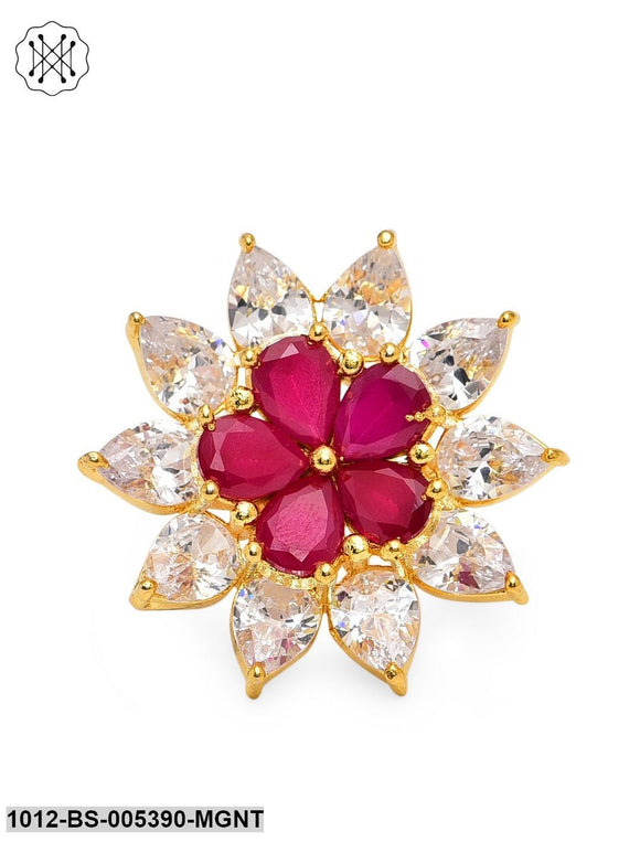 Prita Designer Ruby American Diamond Ring