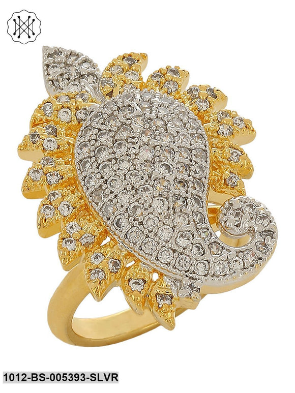 Prita American Diamond Paisley Ring