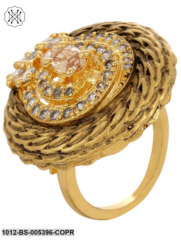 Prita Collection Polki Finger Ring