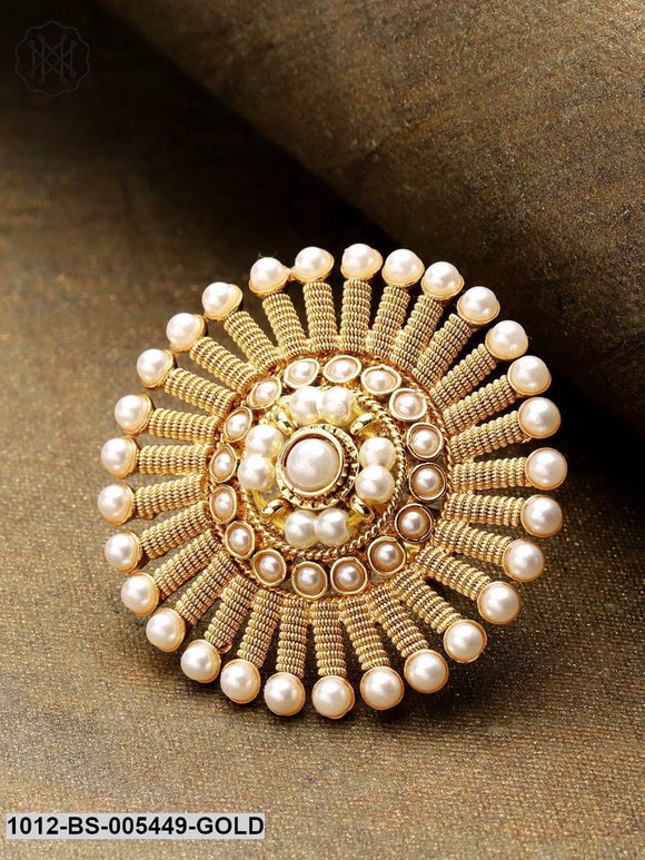 Priyaasi Gold Plated Pearl Ring