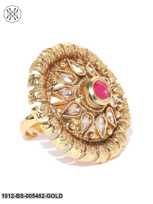Priyaasi Gold Plated Kundan Ring