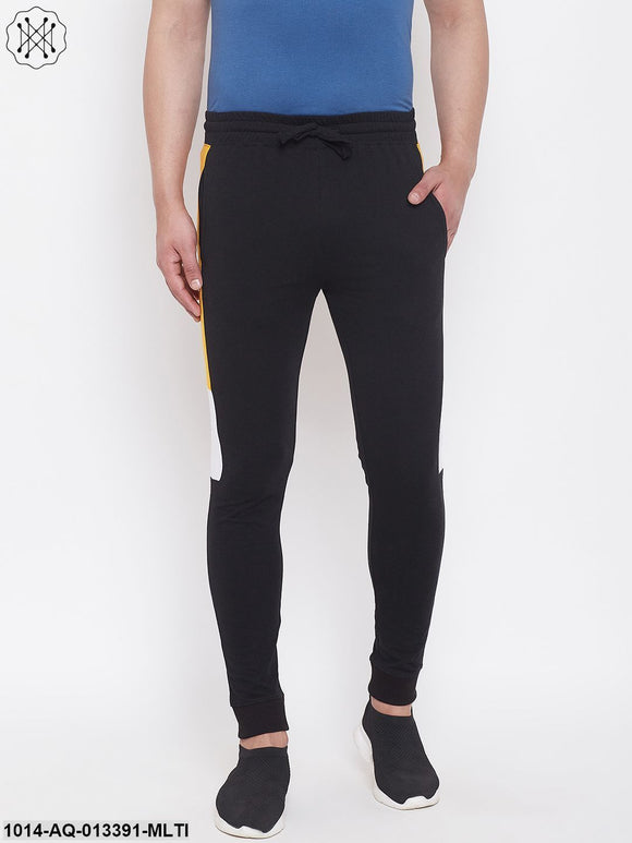 Rise Slim Fit Joggers With Color Block