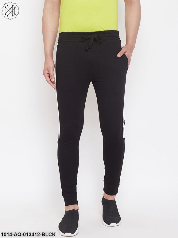 Rise Slim Fit Joggers With Contrast Taping